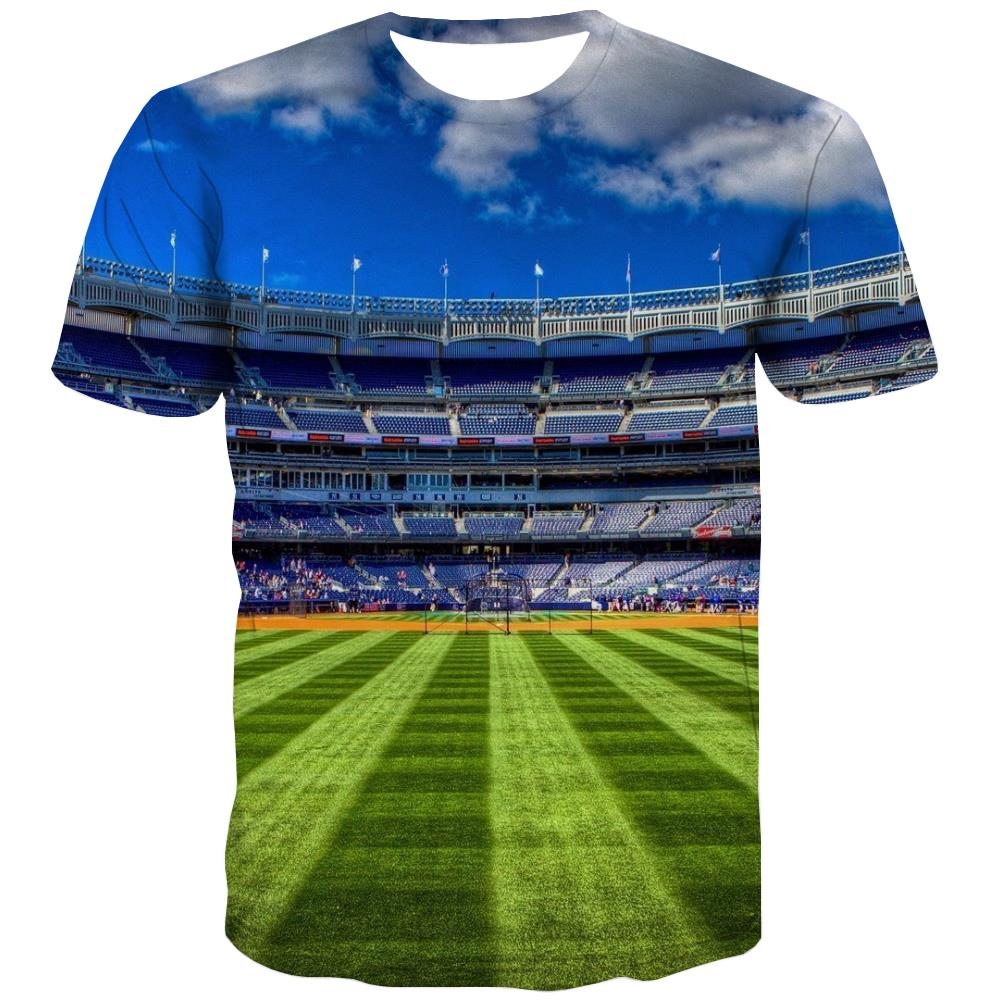 Baseball T shirts Men Stadium T shirts Funny Game Tshirts Novelty White Tshirts Casual