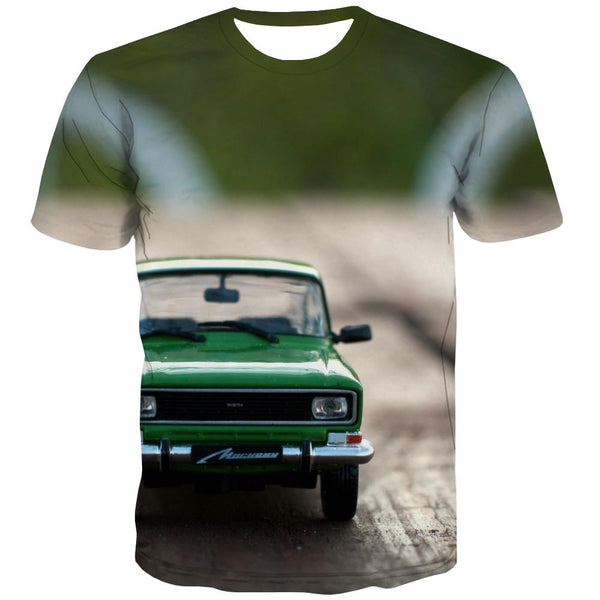 Racing Car T shirts Men Metal Shirt Print City Tshirt Printed Gray Tshirts Cool Retro Tshirts Novelty
