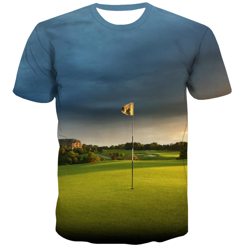 Lawn T-shirt Men Golf T-shirts Graphic Forest Tshirts Casual Natural Tshirt Anime Game T shirts Funny