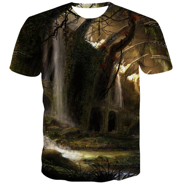 Indians T-shirt Men Grassland Tshirts Novelty Sunset T-shirts Graphic War T shirts Funny