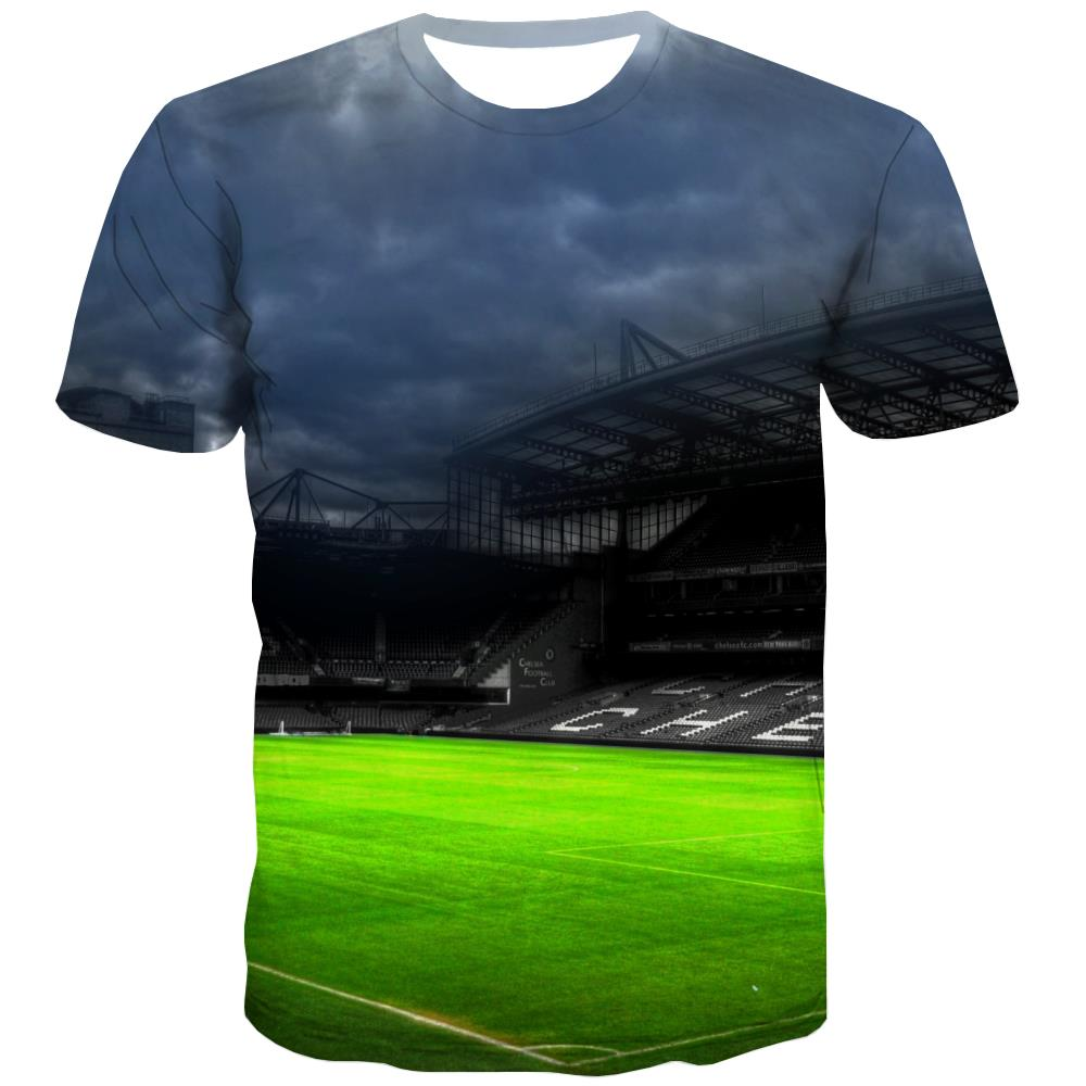 Lawn T shirts Men Football Tshirt Anime Athletics Tshirts Casual Stadium T-shirts 3d