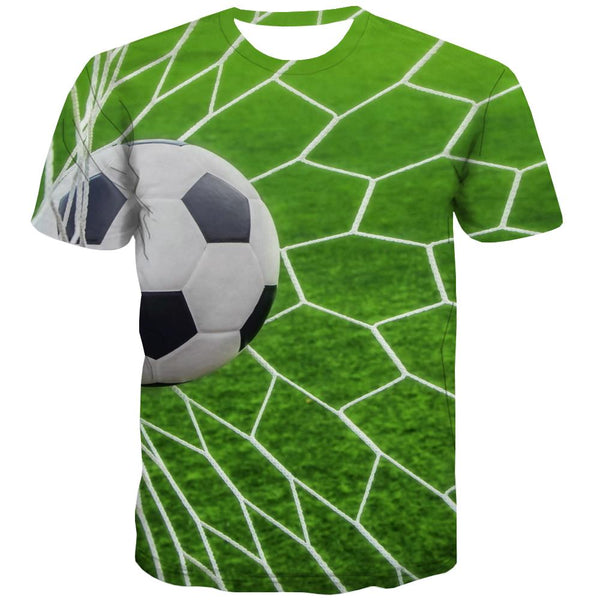 Lawn T-shirt Men Football Tshirts Cool Athletics Shirt Print Stadium T-shirts Graphic