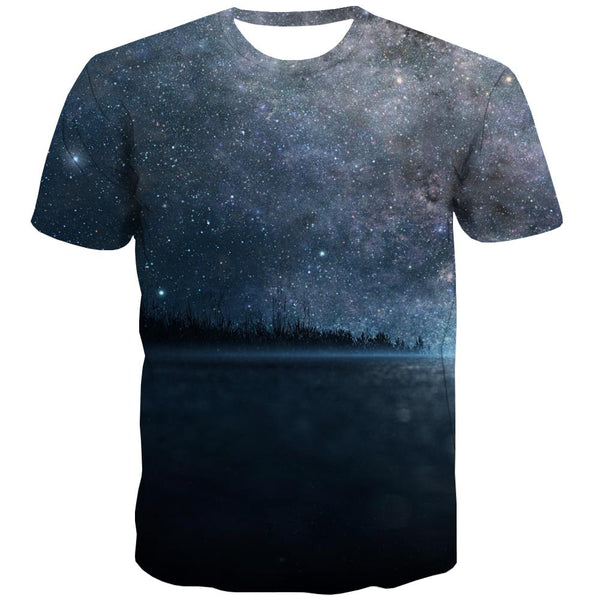 Galaxy T shirts Men Planet Shirt Print Starry Sky Tshirts Casual Colorful Tshirt Anime Harajuku T-shirts Graphic