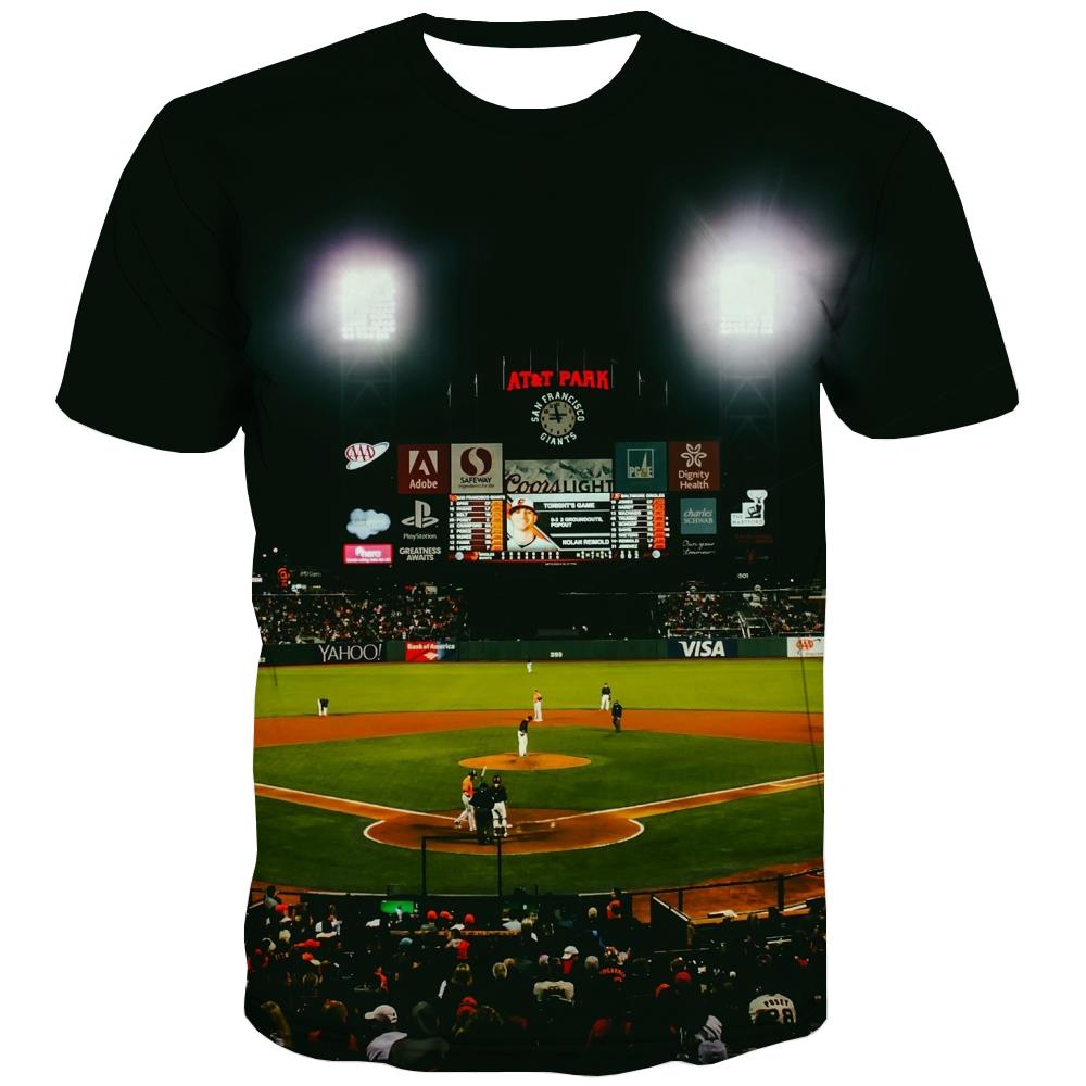Baseball T-shirt Men Stadium Tshirt Anime Game Tshirts Novelty White Shirt Print