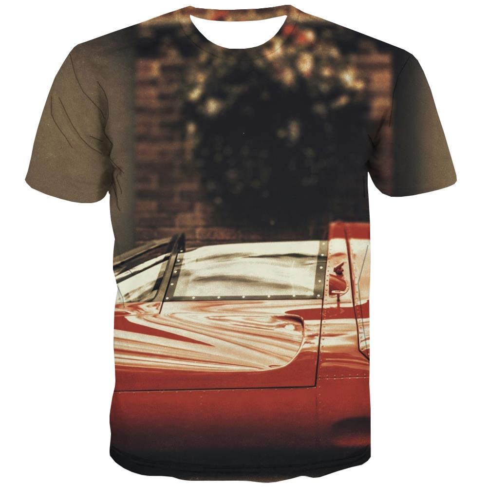 Racing Car T shirts Men Metal Tshirt Printed City Shirt Print Gray T-shirts Graphic Retro Tshirts Novelty