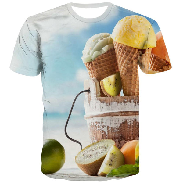 Sweet T-shirt Men Gourmet Tshirts Casual Icecream Tshirt Printed Colourful Shirt Print