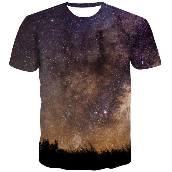 Galaxy T shirts Men Planet Tshirts Cool Starry Sky Shirt Print Colorful Tshirts Casual Harajuku Tshirt Printed