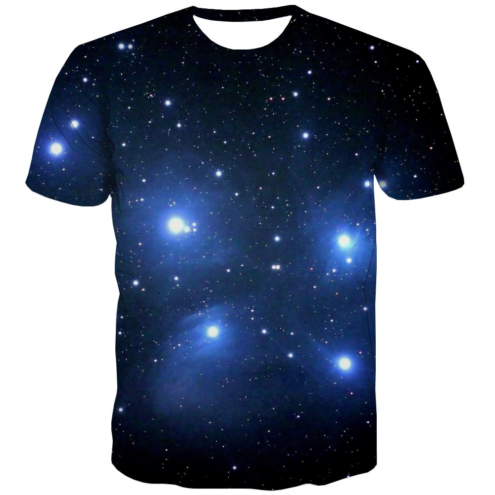 Galaxy T-shirt Men Planet T-shirts 3d Starry Sky Tshirt Printed Colorful T-shirts Graphic Harajuku Tshirts Cool