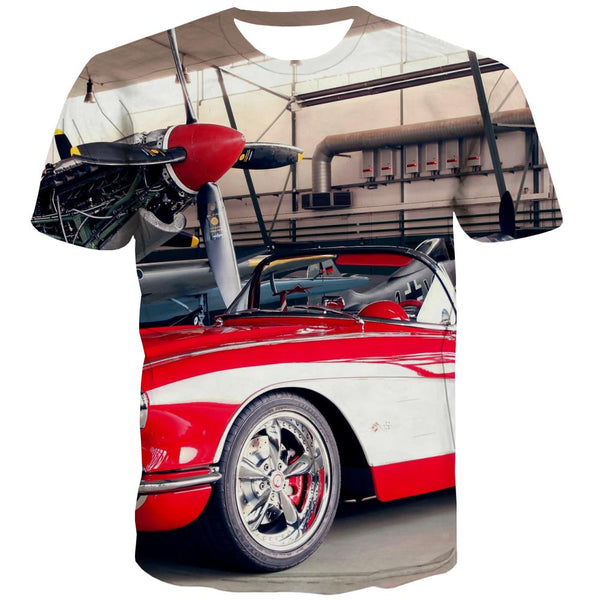 Racing Car T shirts Men Metal T-shirts Graphic City T-shirts 3d Gray Tshirt Anime Retro Tshirts Cool