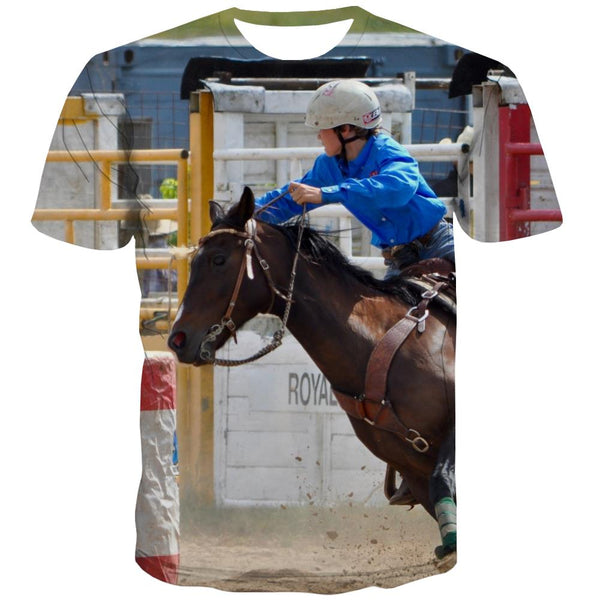 Borse T shirts Men Competition Tshirt Anime Raced T shirts Funny Equestrian T-shirts 3d