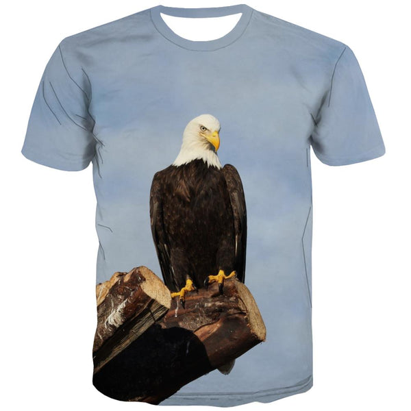 USA T-shirt Men Animal Tshirt Anime Raptor Tshirts Cool Fly T shirts Funny Eagle Tshirts Novelty