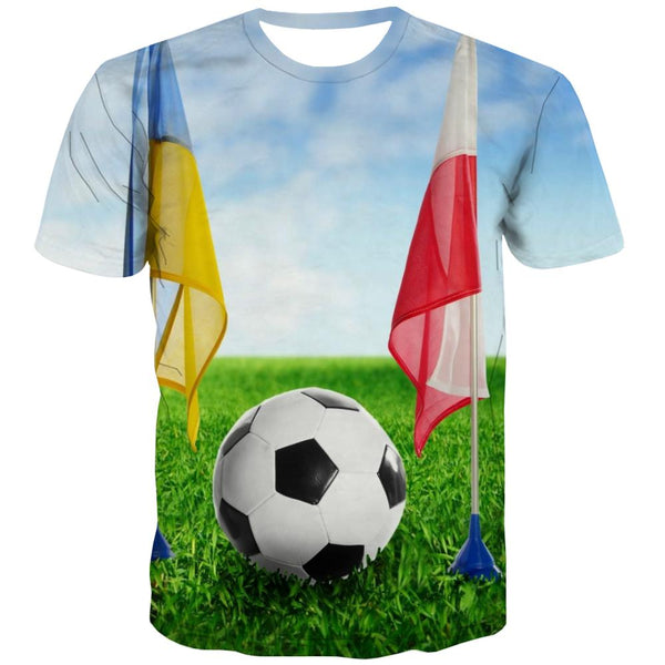 Lawn T-shirt Men Football T-shirts Graphic Athletics T-shirts 3d Stadium Tshirts Casual