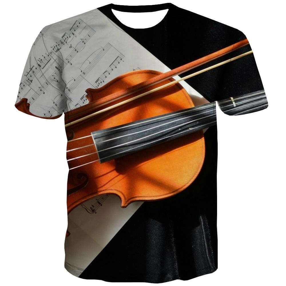 Music T shirts Men Instrument Tshirt Printed Retro Shirt Print Electronic Tshirts Novelty