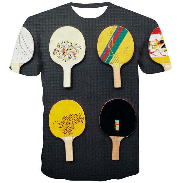Pingpong T shirts Men Game T-shirts Graphic Movement T shirts Funny Short Sleeve