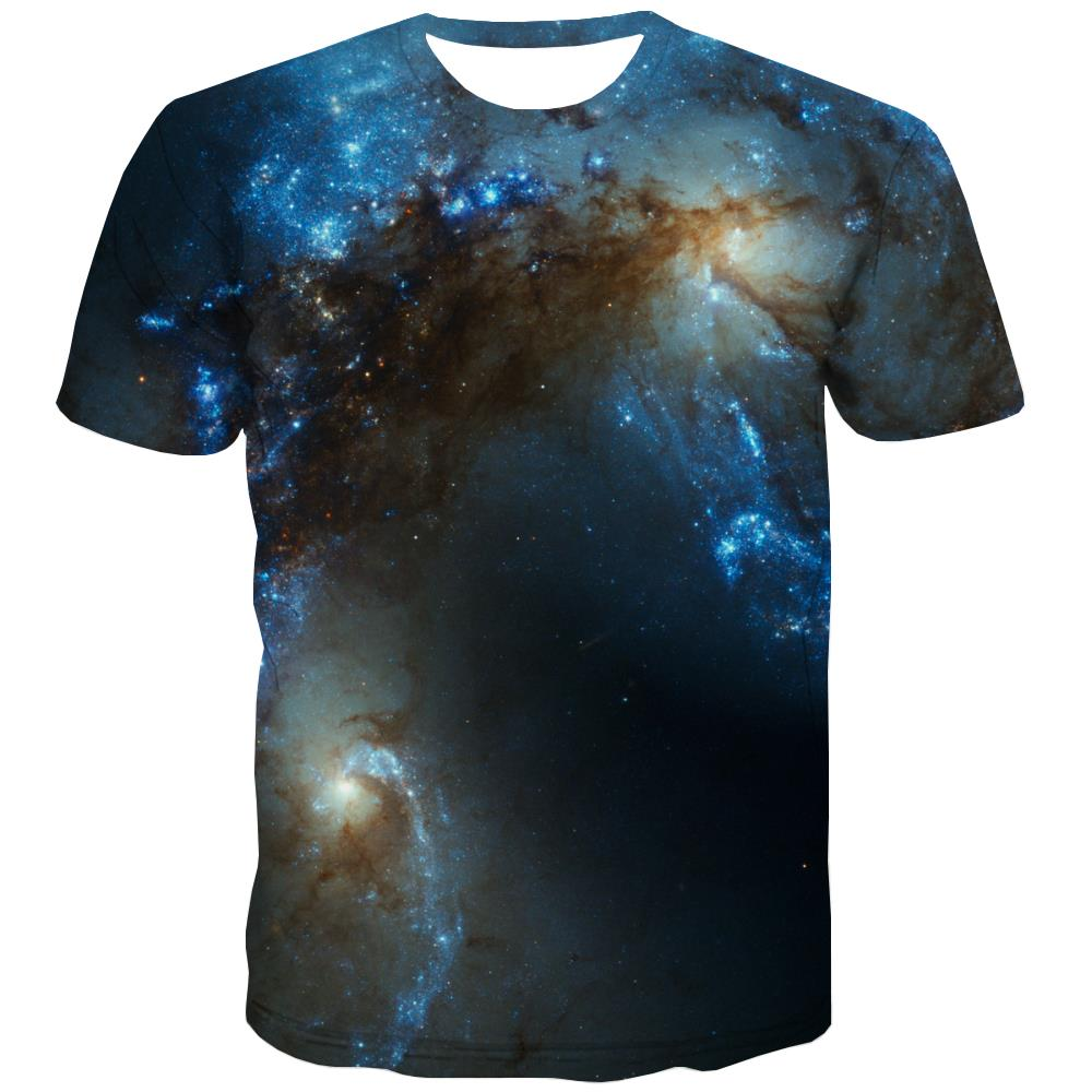 Galaxy T shirts Men Planet Shirt Print Starry Sky Tshirt Printed Colorful T-shirts 3d Harajuku T-shirts Graphic