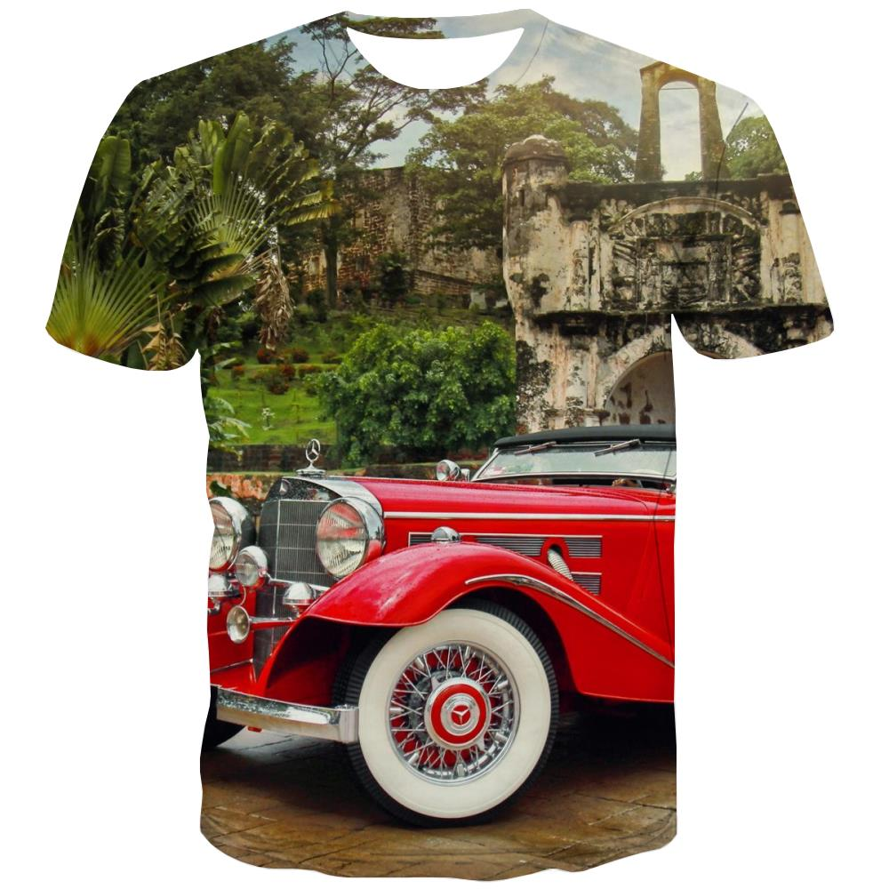 Racing Car T shirts Men Metal Tshirts Novelty City T-shirts Graphic Gray Tshirts Cool Retro Tshirts Casual