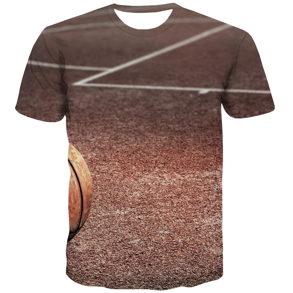 Basketball T shirts Men Night View T-shirts 3d Galaxy Tshirt Anime City T shirts Funny