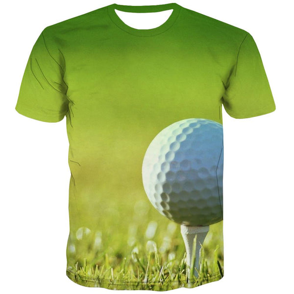 Lawn T shirts Men Golf Tshirt Anime Forest Tshirts Cool Natural Tshirts Casual Game T-shirts Graphic