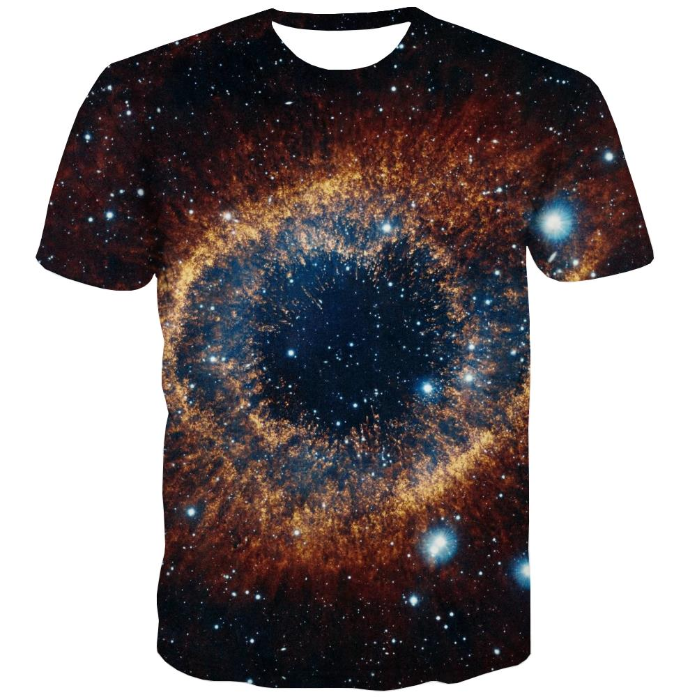 Galaxy T-shirt Men Planet Tshirts Novelty Starry Sky Tshirt Anime Colorful T shirts Funny Harajuku Tshirts Casual