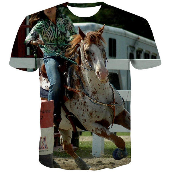 Borse T-shirt Men Competition Tshirt Printed Raced Shirt Print Equestrian Tshirt Anime