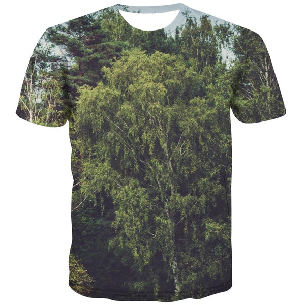 Camping T-shirt Men Sunset T-shirts 3d Forest Tshirts Cool Flame T-shirts Graphic