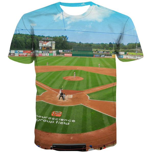Baseball T-shirt Men Stadium Tshirt Printed Game T shirts Funny White T-shirts 3d