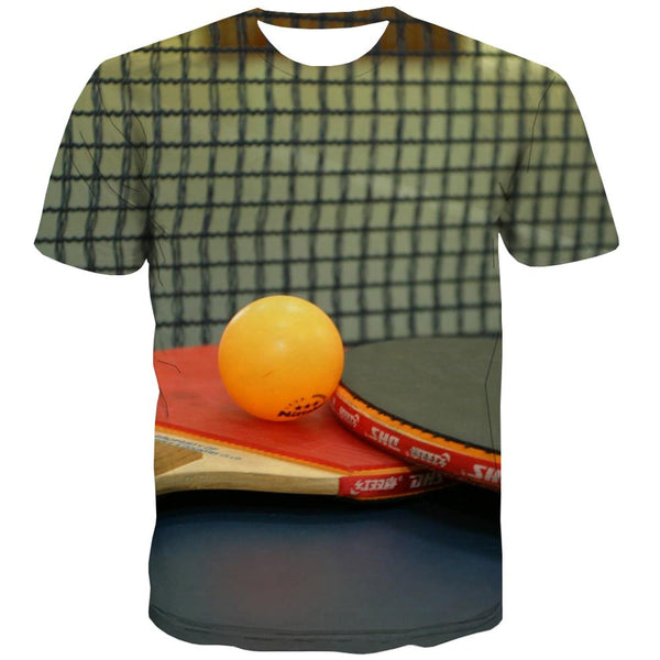 Pingpong T shirts Men Game Shirt Print Movement T shirts Funny Short Sleeve