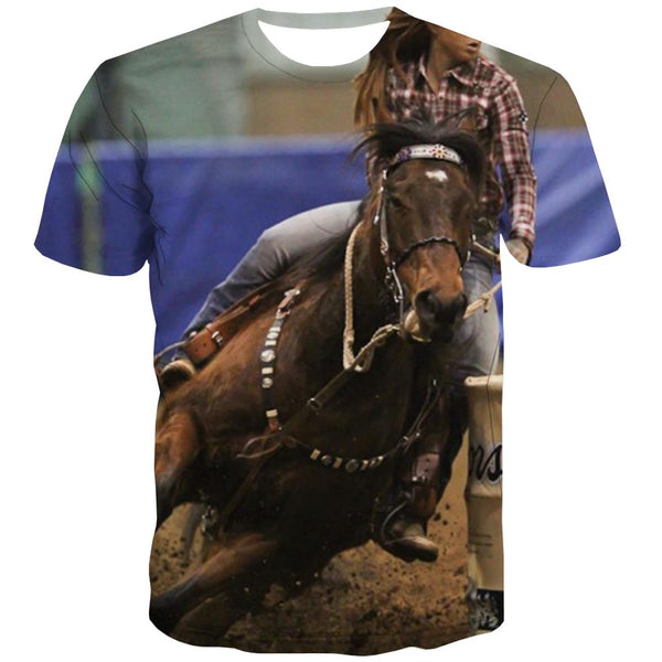 Borse T-shirt Men Competition Tshirts Cool Raced Tshirts Casual Equestrian T-shirts Graphic