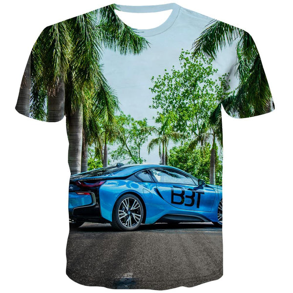 Racing Car T shirts Men Metal T-shirts Graphic City Tshirts Casual Gray T-shirts 3d Retro T shirts Funny