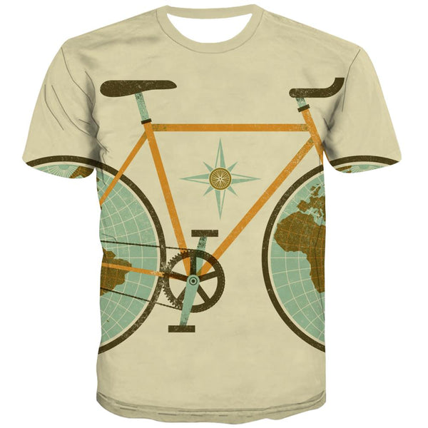Bicycle T shirts Men Metal Tshirts Novelty City T-shirts Graphic Psychedelic Tshirt Printed