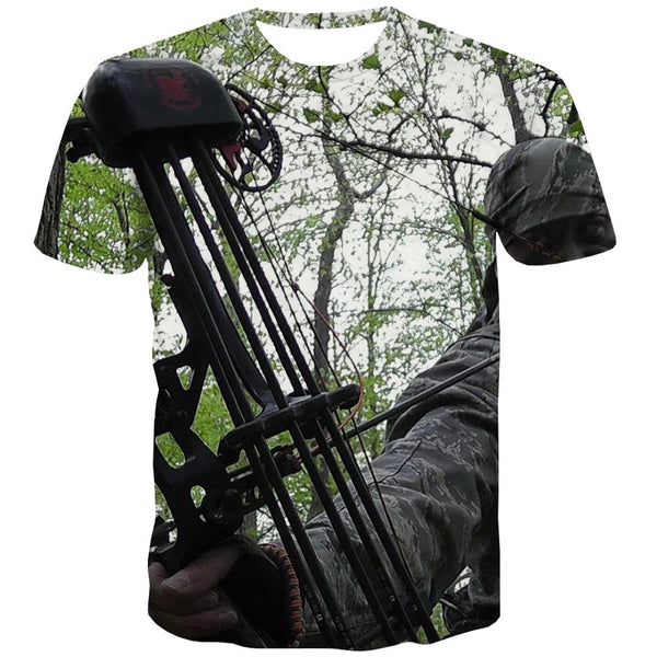 Hunting T-shirt Men Jungle Tshirts Casual Deer Tshirts Cool Shooter T shirts Funny Camouflage Tshirt Anime