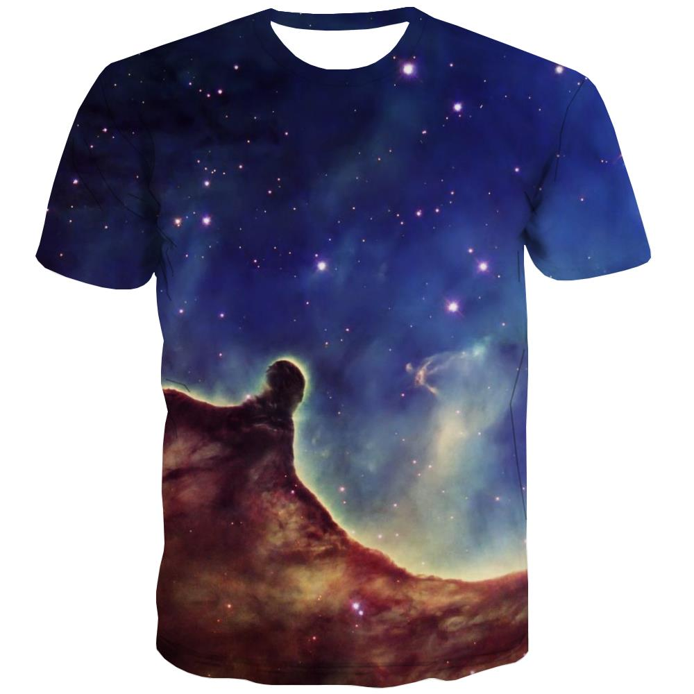 Galaxy T-shirt Men Planet Tshirt Anime Starry Sky T-shirts 3d Colorful Tshirts Novelty Harajuku Tshirt Printed