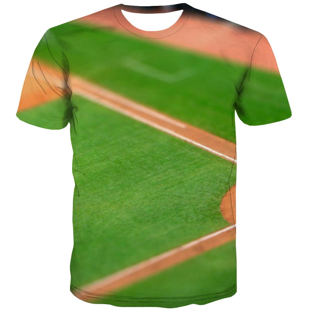 Baseball T shirts Men Stadium T-shirts 3d Game Tshirt Anime White T-shirts Graphic