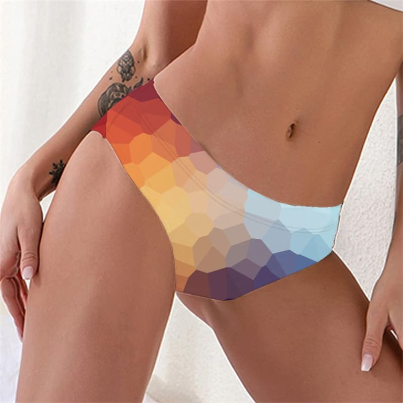 Colorful Panties Women Geometry Sexy Abstract Knickers Women's Underpant