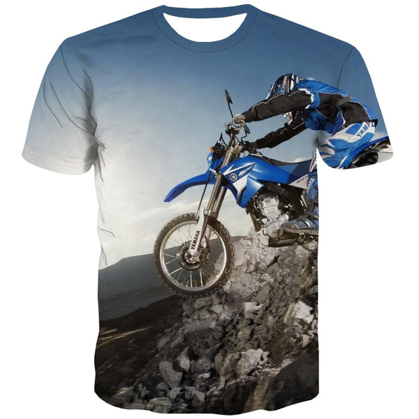 Bicycle T-shirt Men Metal Tshirts Novelty City Tshirt Printed Psychedelic Tshirts Casual