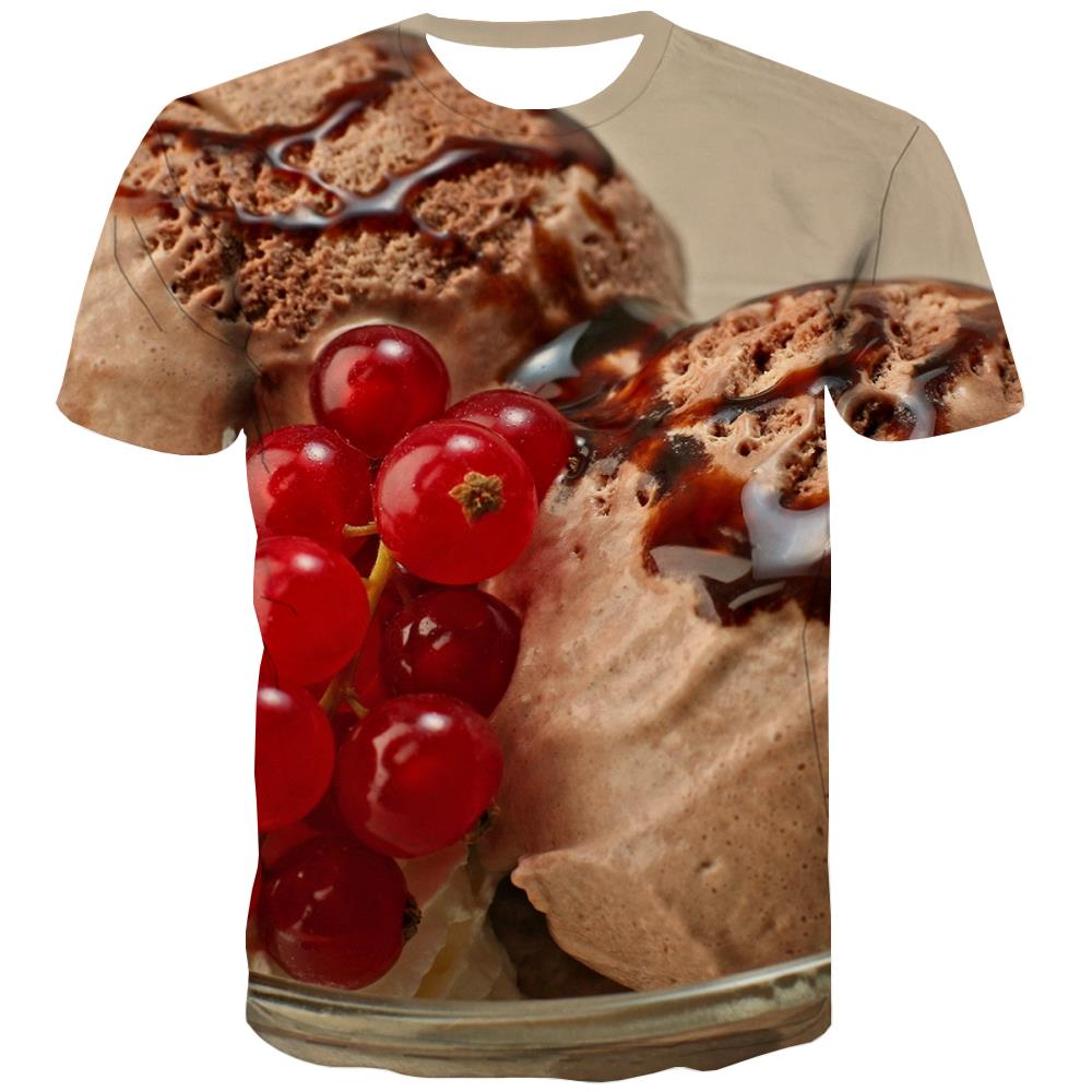 Sweet T shirts Men Gourmet Tshirt Anime Icecream T-shirts 3d Colourful Shirt Print