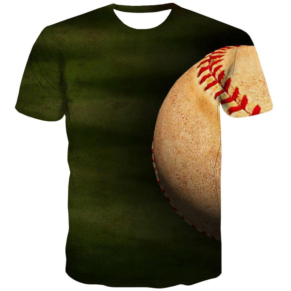 Baseball T shirts Men Stadium Tshirt Printed Game Tshirts Novelty White Shirt Print