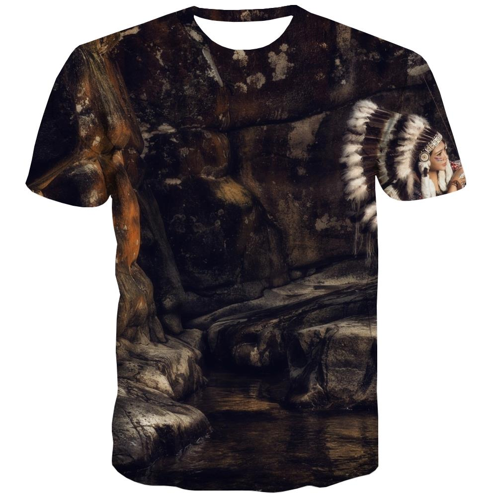 Indians T shirts Men Grassland Tshirt Anime Sunset T shirts Funny War Tshirts Casual