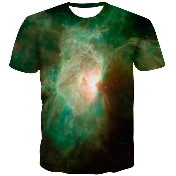 Galaxy T shirts Men Planet Tshirts Casual Starry Sky T-shirts Graphic Colorful T shirts Funny Harajuku Tshirts Novelty