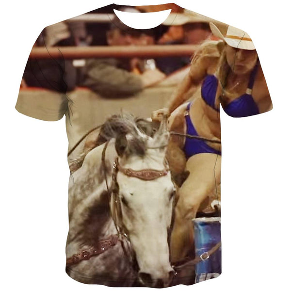 Borse T shirts Men Competition Tshirt Anime Raced Tshirt Printed Equestrian T shirts Funny