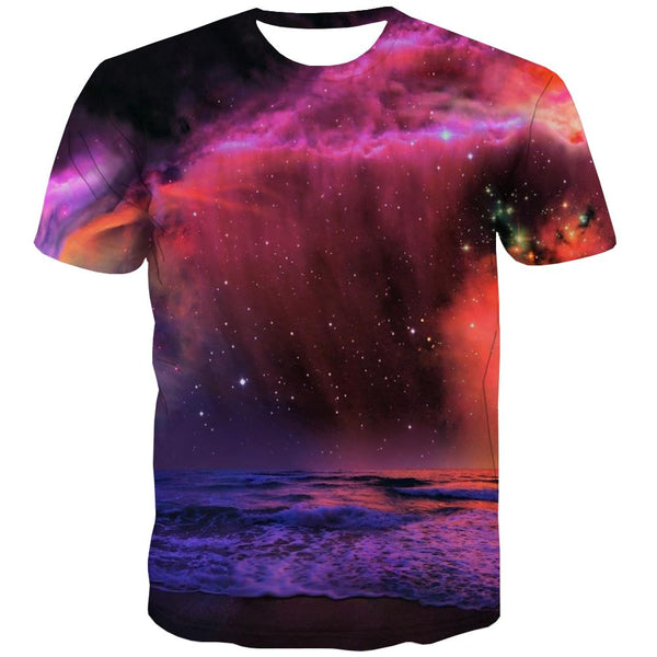 Galaxy T shirts Men Planet Tshirt Anime Starry Sky Tshirt Printed Colorful T-shirts 3d Harajuku Tshirts Casual