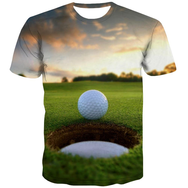 Lawn T-shirt Men Golf Tshirts Cool Forest Tshirts Casual Natural T-shirts 3d Game Tshirt Anime