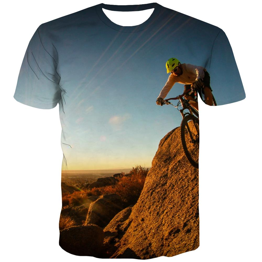 Bicycle T shirts Men Metal T shirts Funny City Tshirts Cool Psychedelic Tshirts Casual