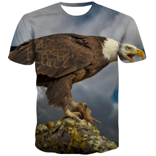 USA T-shirt Men Animal T-shirts 3d Raptor Tshirts Novelty Fly T-shirts Graphic Eagle Shirt Print
