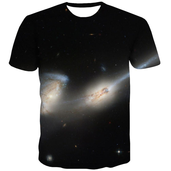 Galaxy T-shirt Men Planet Tshirt Anime Starry Sky Tshirts Novelty Colorful Tshirts Casual Harajuku Tshirts Cool