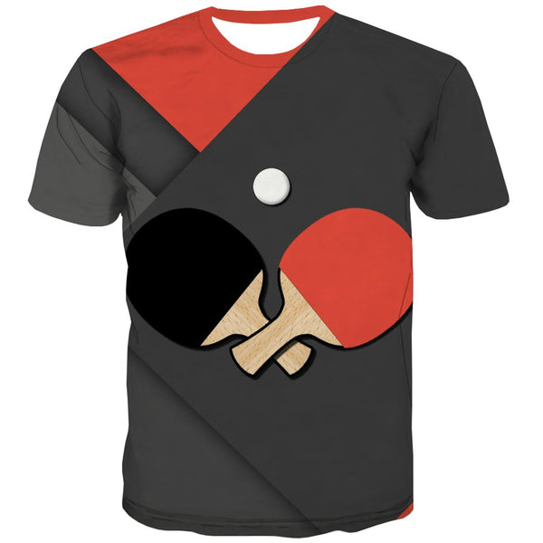 Pingpong T shirts Men Game Tshirt Printed Movement T-shirts Graphic Short Sleeve