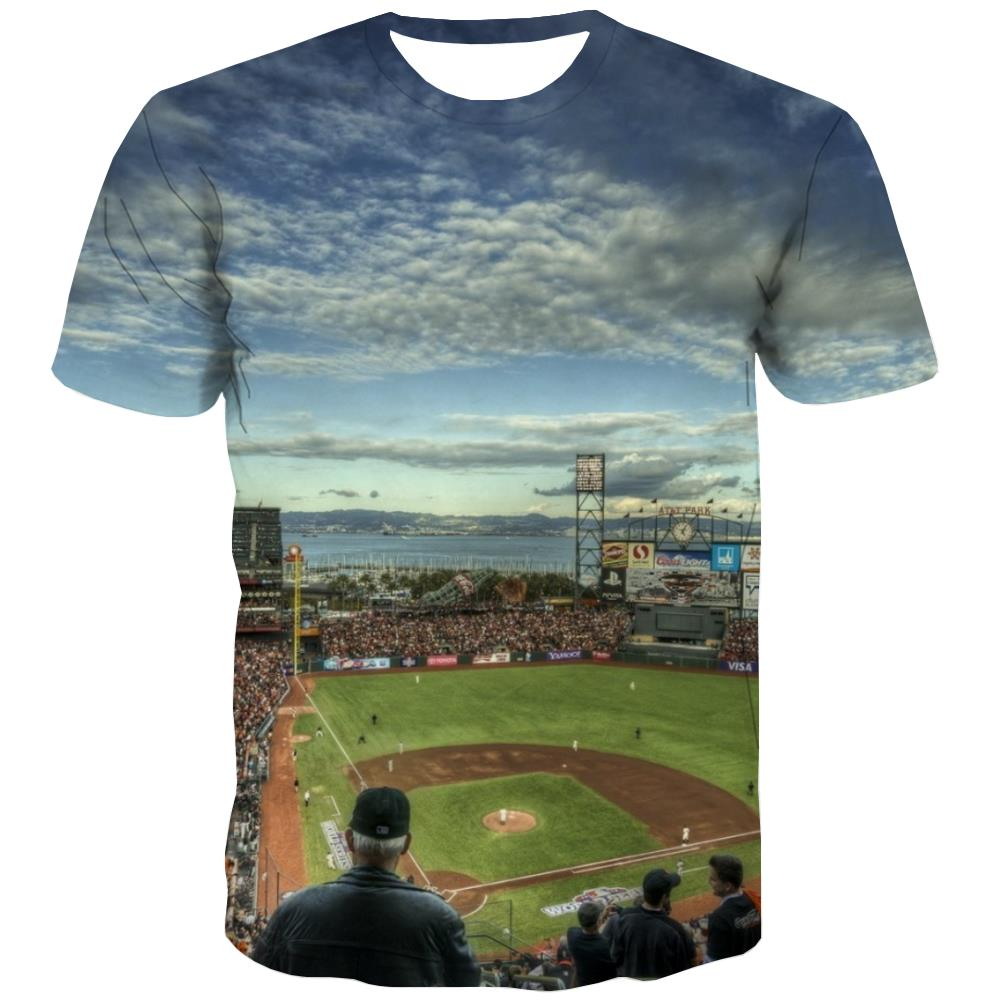 Baseball T-shirt Men Stadium Tshirts Casual Game Tshirt Anime White T-shirts 3d