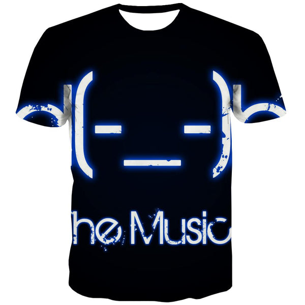 Music T-shirt Men Instrument Tshirt Anime Retro T shirts Funny Electronic Shirt Print