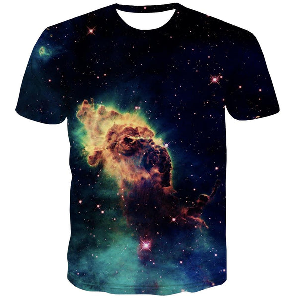 Galaxy T shirts Men Planet Tshirt Printed Starry Sky T-shirts 3d Colorful T shirts Funny Harajuku Tshirt Anime