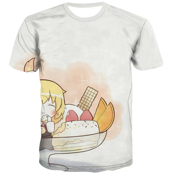 Sweet T-shirt Men Gourmet Tshirts Novelty Icecream Tshirts Casual Colourful T shirts Funny